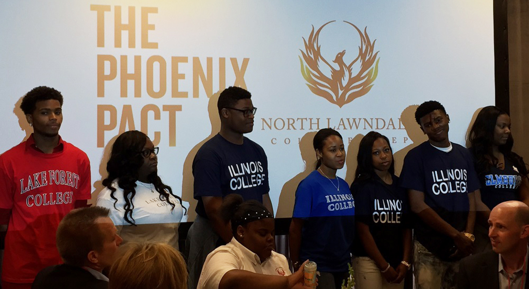 Recipients of Phoenix Pact funding stand to be recognized at a reception honoring their college acceptances.