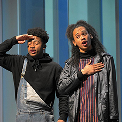 Two Chicago teens perform a song at the 2016 Chicago Teen Lit Fest