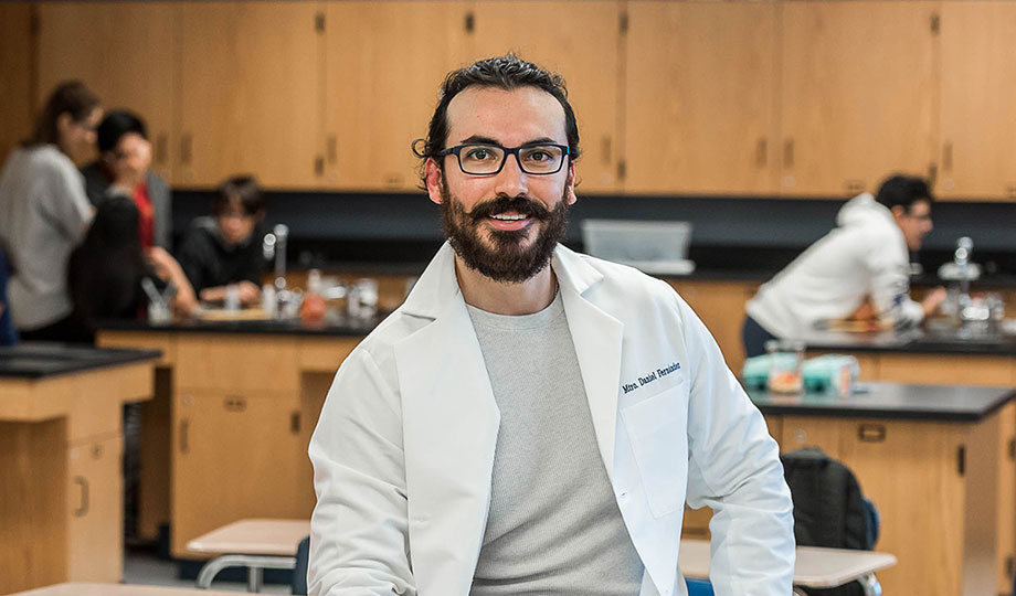 Daniel Fernandez in classroom