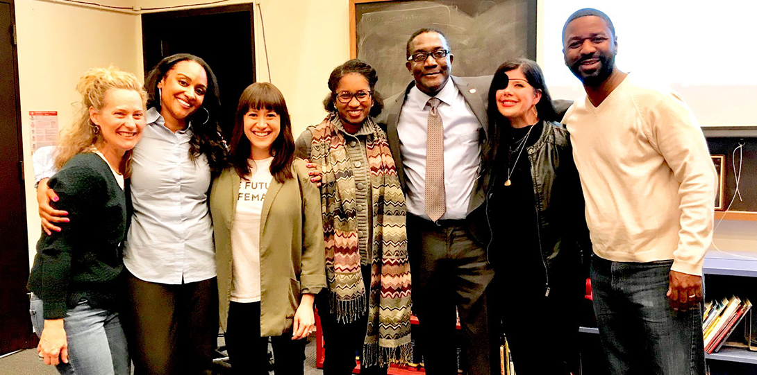 UIC Alumna and GSIG Invited Speaker Dr. Gholdy Muhammad with her fellow UIC COE colleagues