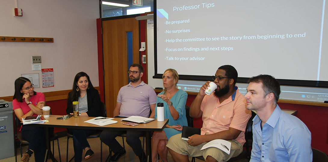 Constructing a Strong Dissertation, a Doctoral Orientation Session with Alumnus Dr. Joe Rumenapp & Faculty Panel
